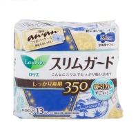 花王乐而雅 零触感特薄安心夜用超吸收护翼卫生巾 35cm 13片 日本进口