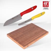 双立人(Zwilling)TWIN Point S刀具(不锈钢多用刀+水果刀)竹制砧板案板切菜板三件套 32874-007-722