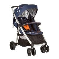 诺尼亚(naonii)婴儿手推车 儿童四轮推车 轻便可折叠可躺可坐婴儿车宝宝伞车 蓝色