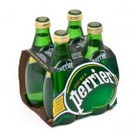 巴黎水(Perrier)天然含汽矿泉水(原味)气泡水 330ml*4瓶/组 法国进口