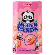 明治 熊猫草莓夹心饼干50g